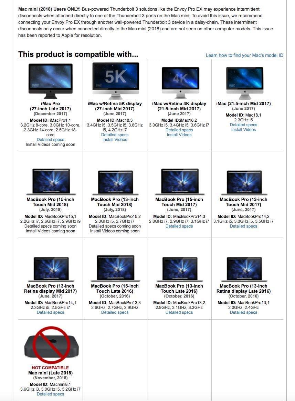 Disque Externe Portable SSD NVMe OWC Envoy Pro EX 1 to Thunderbolt 3