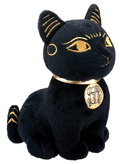 Black And Gold Bastet Cat Kitten Egyptian Stuffed Plush Doll by Summit Collection