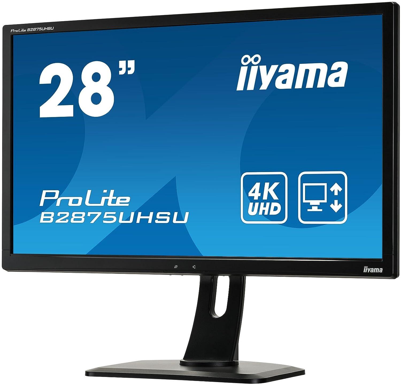 Iiyama B2875UHSU-B1 Ecran PC LED 28 3840X2160 Pixels Full HD 10 ms Noir