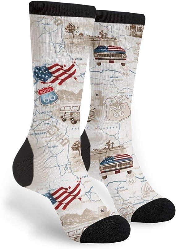 Good Mood Unisex Maps Adult Travelling Socks