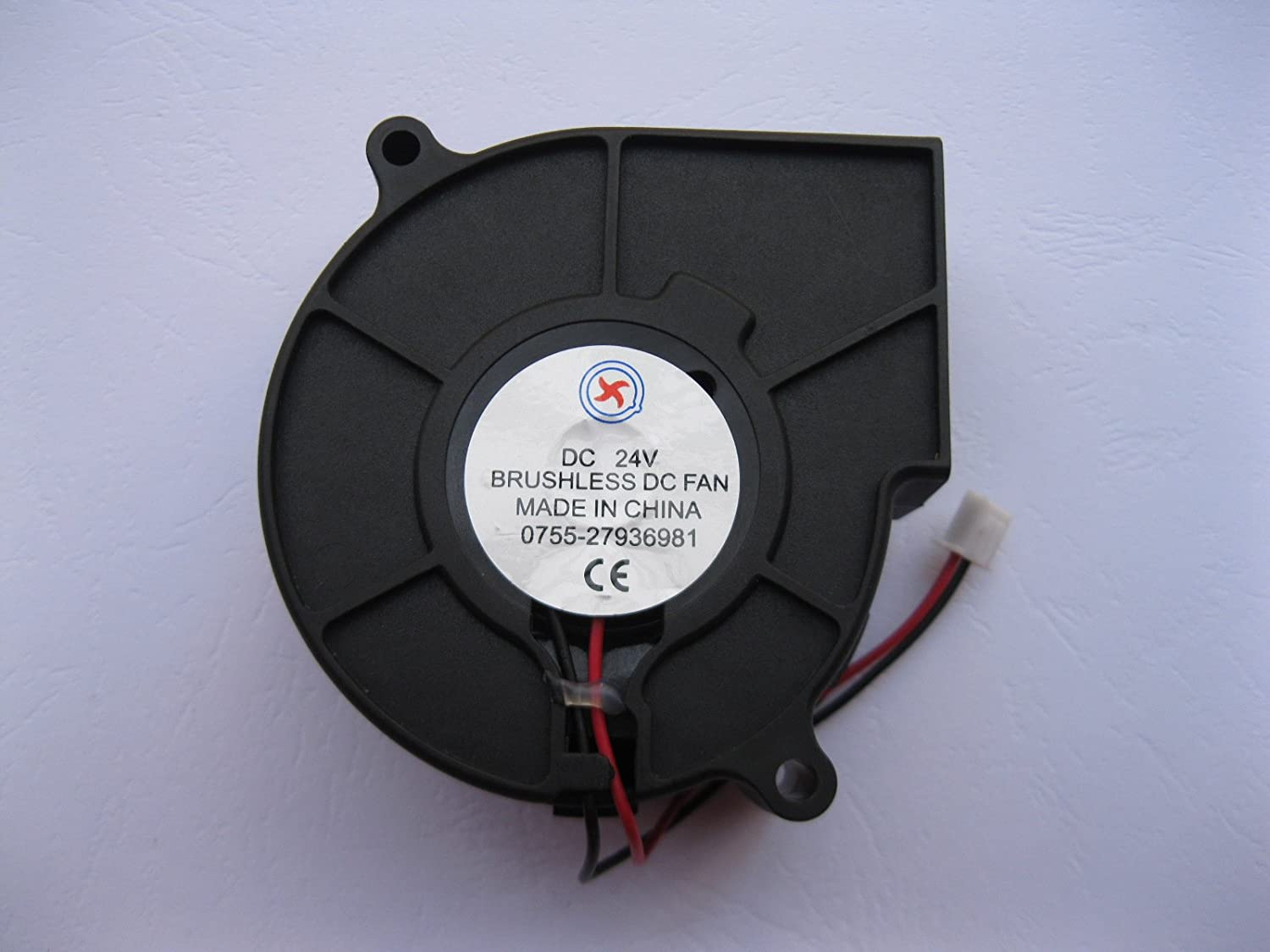 1 Pcs DC Blower Fan 24V 7530B 2 Pin 75x30mm Brushless DC Cooling Blower Fan