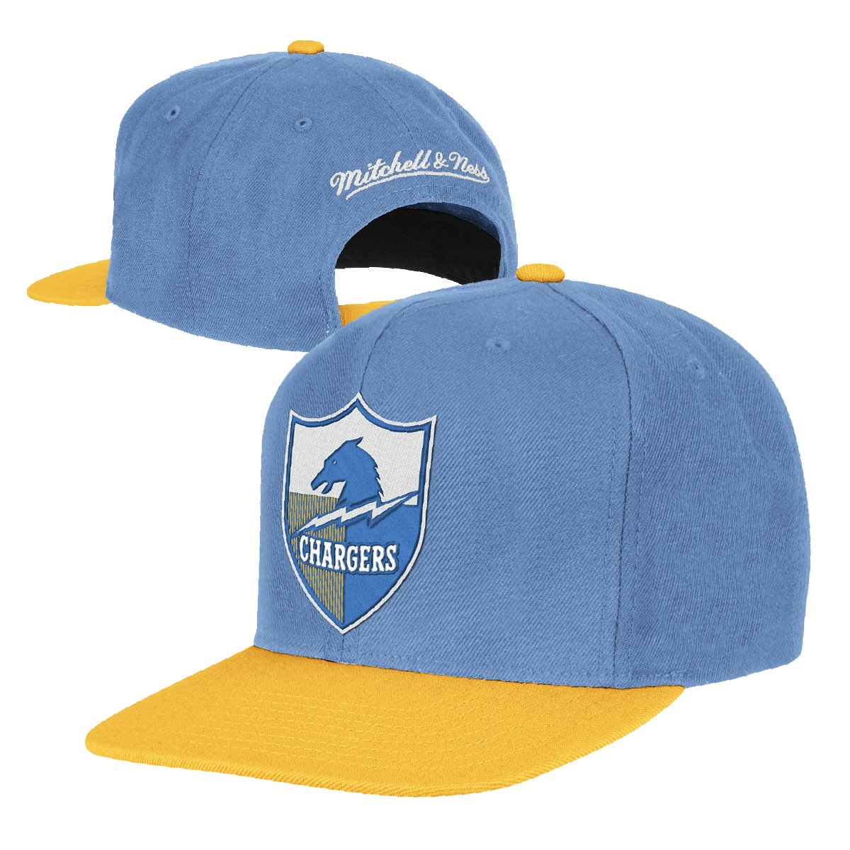 Amazon.com  San Diego Chargers Big Logo Blue Yellow Adjustable Snapback Hat    Cap  Clothing fa170c8547a