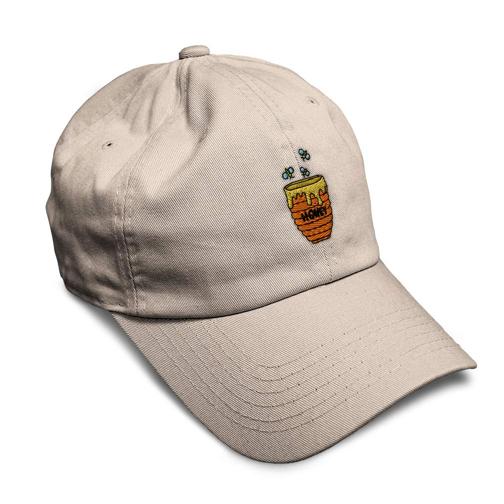 Custom Soft Baseball Cap Honey Embroidery Twill Cotton Dad Hats for Men /& Women