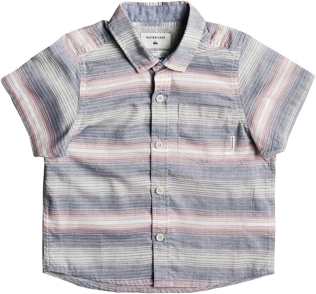 Quiksilver - Camisa de manga corta para niño pequeño Aventail (niños/niños) con botones de rosa ceniza: Amazon.es: Ropa y accesorios
