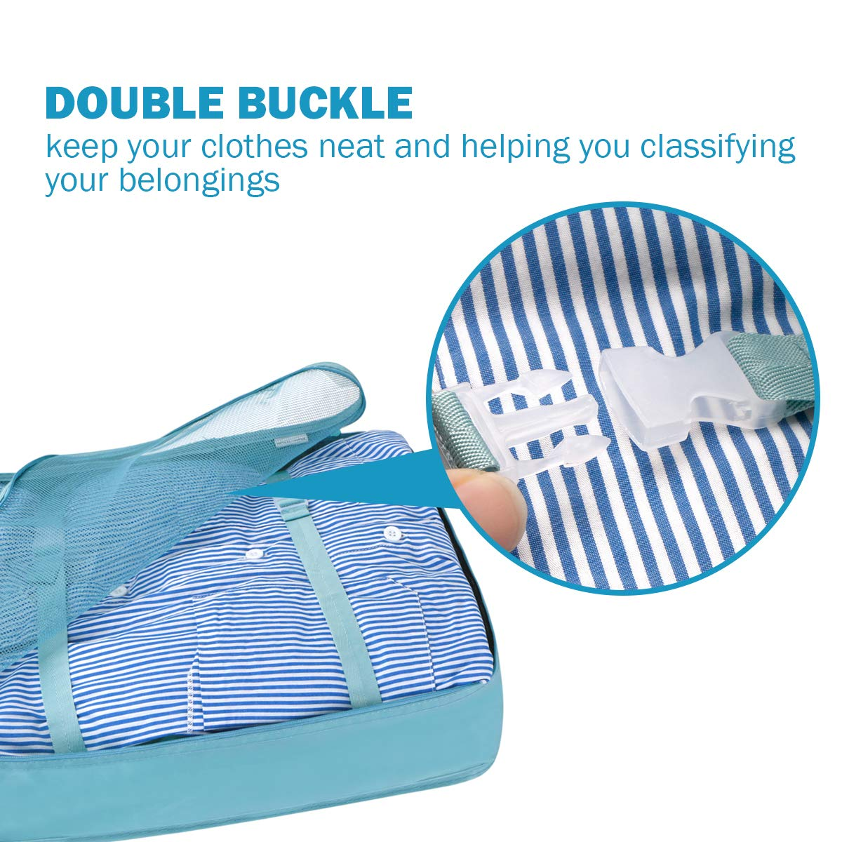 LC-dolida Luggage Organizer Bag with Shoes Bag 9 Set Packing Cubes