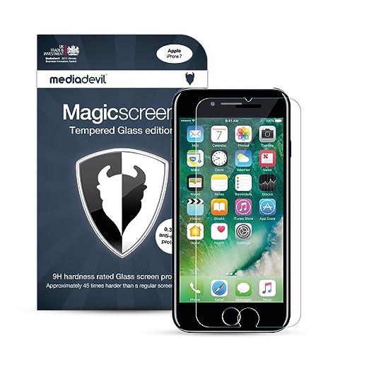 696 opinioni per iPhone 7 (1-Pack) Pellicola Protettiva in Vetro Temperato, MediaDevil