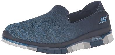 Skechers GO Walk, Damen Slipper, Blau (NVY), 37 EU