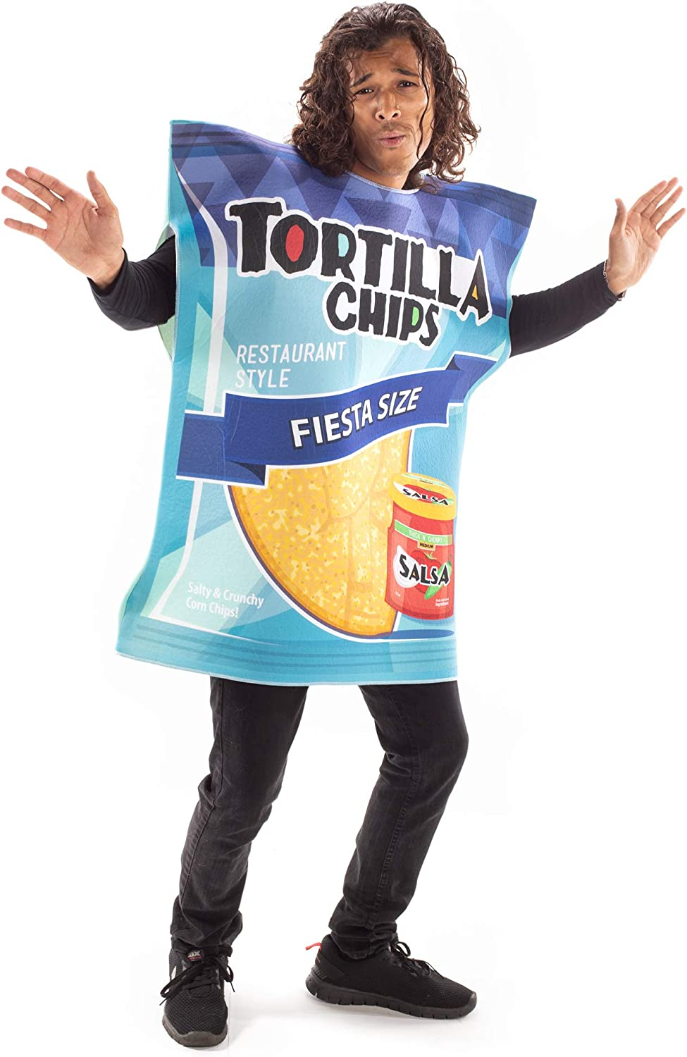 Tortilla Chips Halloween Costume - Funny Food Suit - Cute Adult One Size Outfit