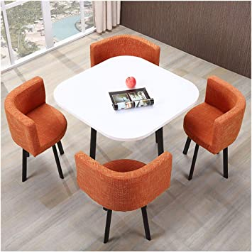 Amazon Com Meeting Table And Chairs Small Round Table Office Leisure Negotiation Room Simple Living Room Cafe Milk Tea Shop Bakery Hotel Bar Lounge Reception Room Balcony Study Room Living Room Bedroom