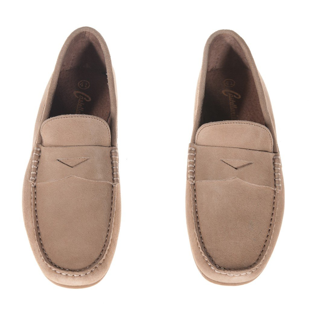 Castellanisimos Mocasin con Antifaz Hombre Camel - Color - Camel, Tallas - 45: Amazon.es: Zapatos y complementos