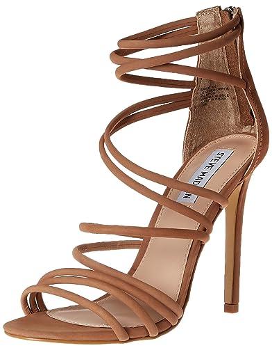 318dcb39807 Steve Madden Women s Santi Dress Sandal Camel Nubuck 8.5 ...