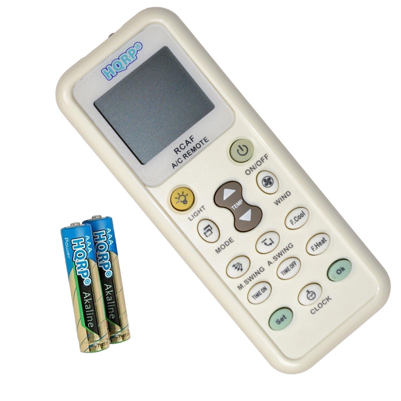 HQRP Air Conditioner Remote Control for Fujitsu, DeLonghi, Whirlpool, Daikin, Toshiba, Gree, Samsung, Sanyo, Amcor 884667605171203