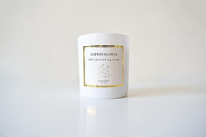 Vela 100% Natural - Cera de soja y aceites esenciales - Aroma flor ...