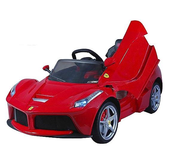 Coche eléctrico para niños 12V con mando - Ferrari LaFerrari - Con licencia original: Amazon.es: Juguetes y juegos