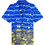 e96dda09b70 ... Batik Donut Print Button Down Collar Aloha Shirts. £24.71 · Candow Look  Short Sleeves Casual Hawaiian Cotton Aloha Holiday Men Shirts