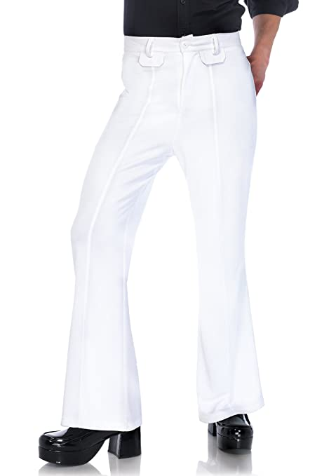 60s -70s  Men's Costumes : Hippie, Disco, Beatles Leg Avenue Mens bell bottom pants $39.95 AT vintagedancer.com