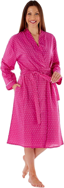 InspirationsLN436 - Bata de manga larga para mujer (algodón)