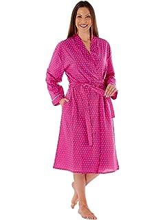 Inspirations LN436 - Bata de manga larga para mujer (algodón)
