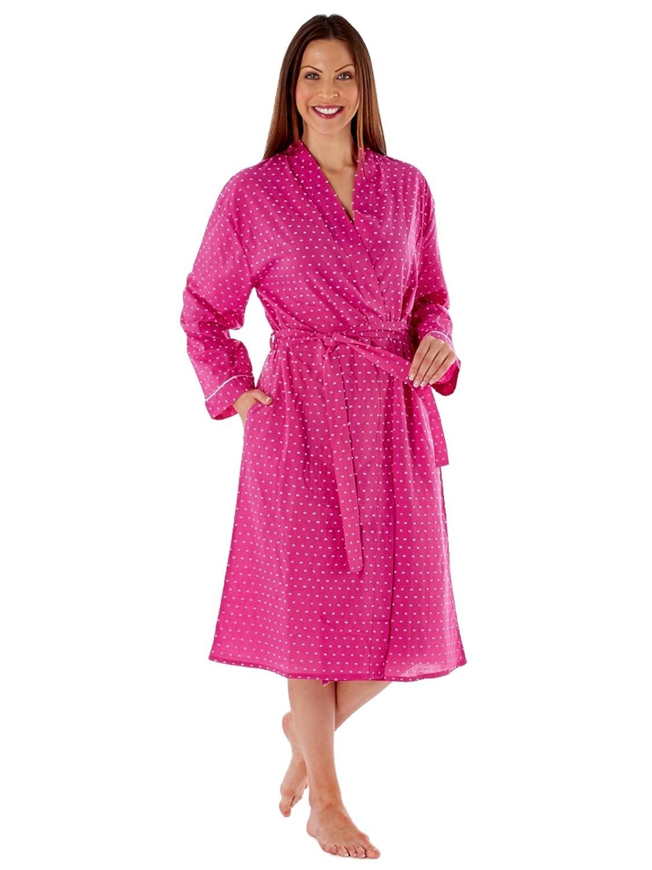 TALLA S . InspirationsLN436 - Bata de manga larga para mujer (algodón)