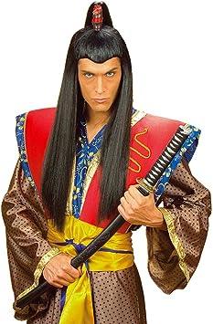 Negra Asia Hombre peluca Samurai Chinese japaner asiate Negro ...