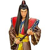 Negra Asia Hombre peluca Samurai Chinese japaner asiate Negro Samurai peluca Disfraz Accesorio Fasching