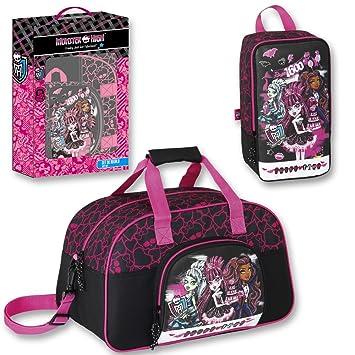 Monster High Set regalo Draculaura bolsa de deporte + portatodo zapatillero: Amazon.es: Juguetes y juegos