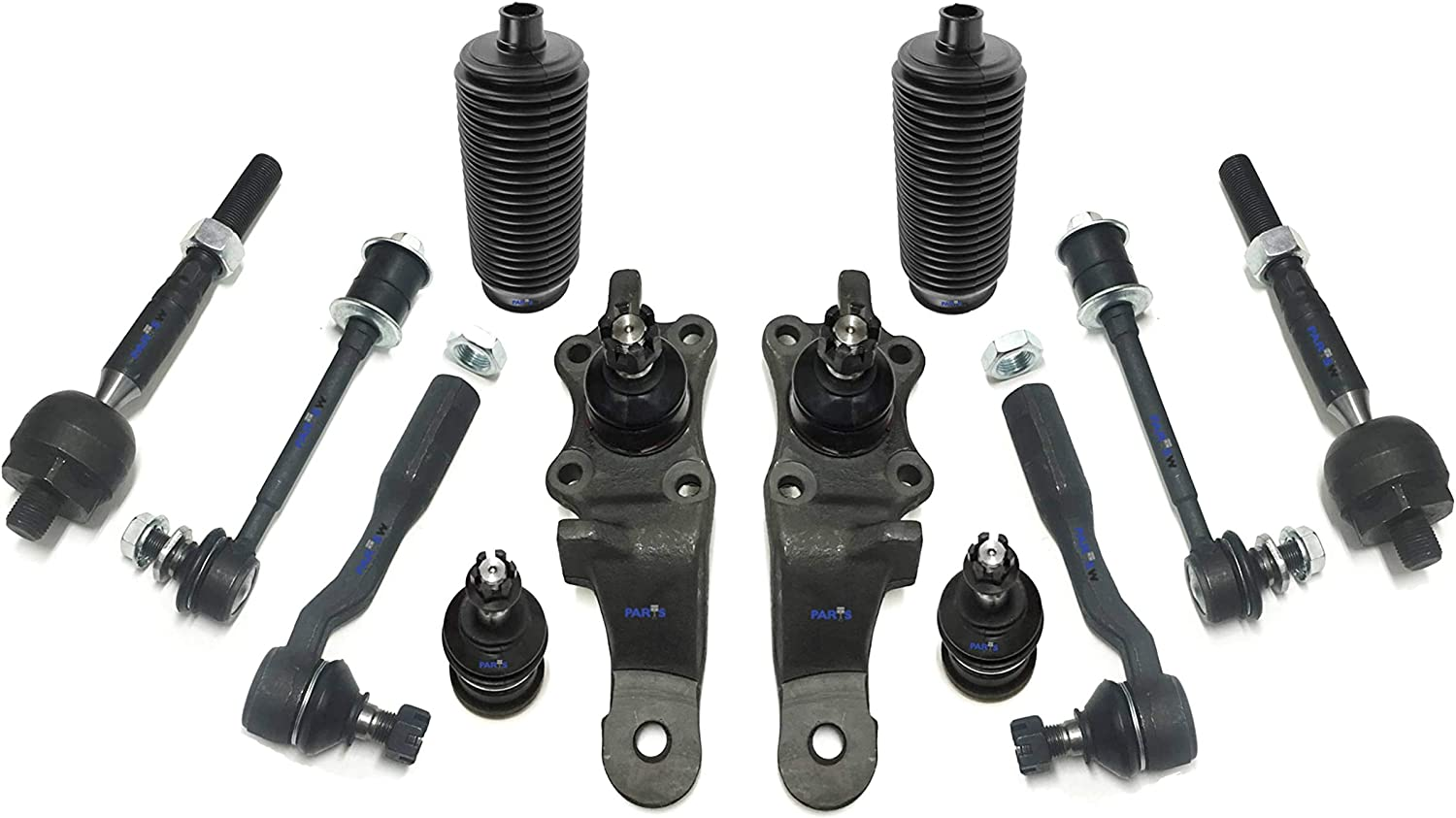 12pc Upper Control Arm Ball Joint set Inner Outer Tie Rod End 00-06 Yukon Tahoe