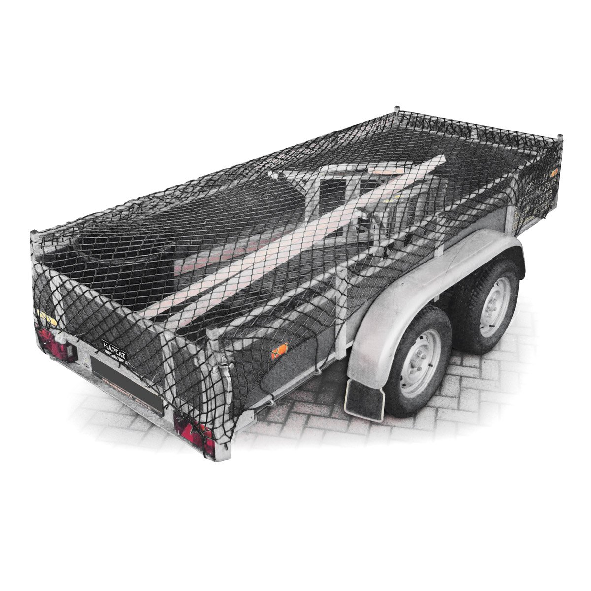 Relaxdays Elastic Trailer Cargo Luggage Net 3 X 2 meter