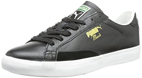 Puma Unisex - Adult Match Vulc Low Black Schwarz (black-monaco blue 03)
