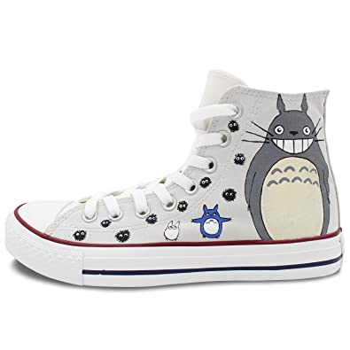 25947c7d730b ... sweden converse high top shoes women men hand painted totoro canvas  painting custom sneakers 95756 ee299