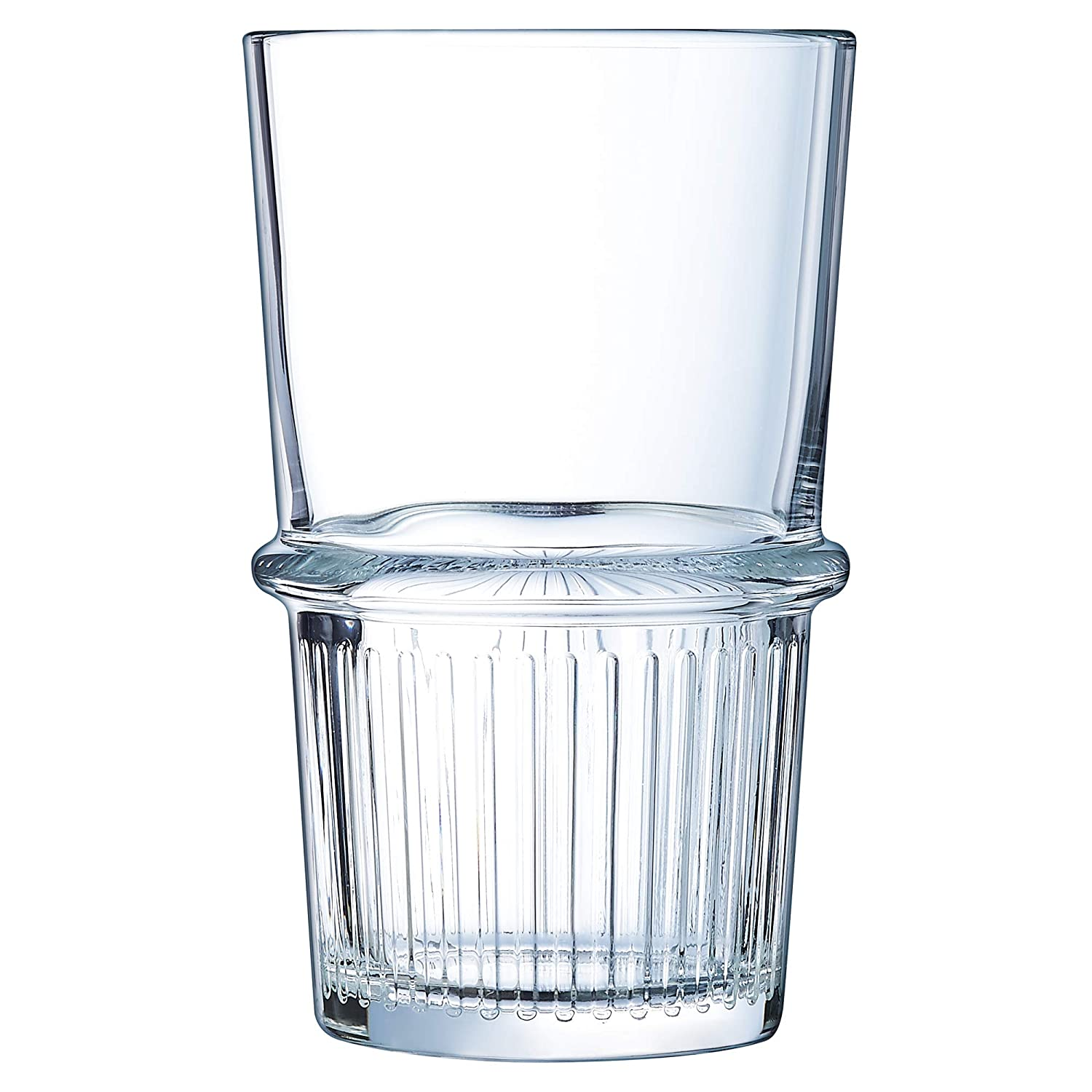 New York Tubo Hiball Tumblers 16oz 470ml Pack of 6 Fully Tempered Hiball Glasses from Arcoroc