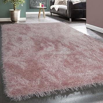Amazon De Moderner Wohnzimmer Shaggy Hochflor Teppich Soft Garn In