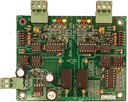 Assembled Circuit Board Only DIFAR44 DUAL 3.0KV Isolated RS485RS485 Inline Repeater//Extender