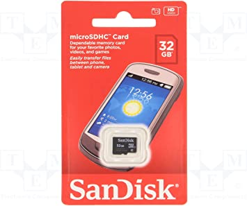 Sandisk de 32 GB clase 4-Tarjeta microSDHC SDSDQM - 032G-B35