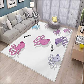 Amazon Com Teen Girls Area Rugs For Bedroom Octopus Pattern