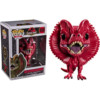Funko Pop Movies: Jurassic Park - Red Dilophosaurus Collectible Figure, Multicolor: Toys & Games