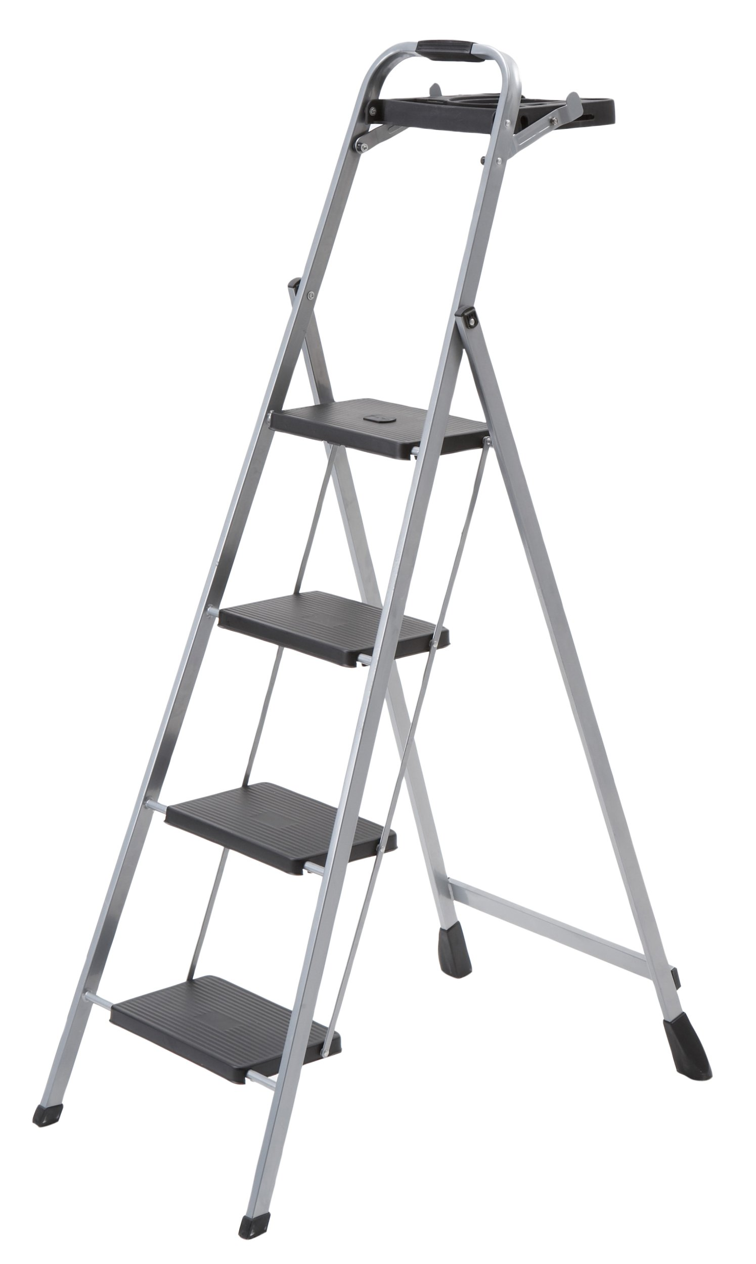 Skinny Mini 4-Step Steel Step Stool with Project Tray