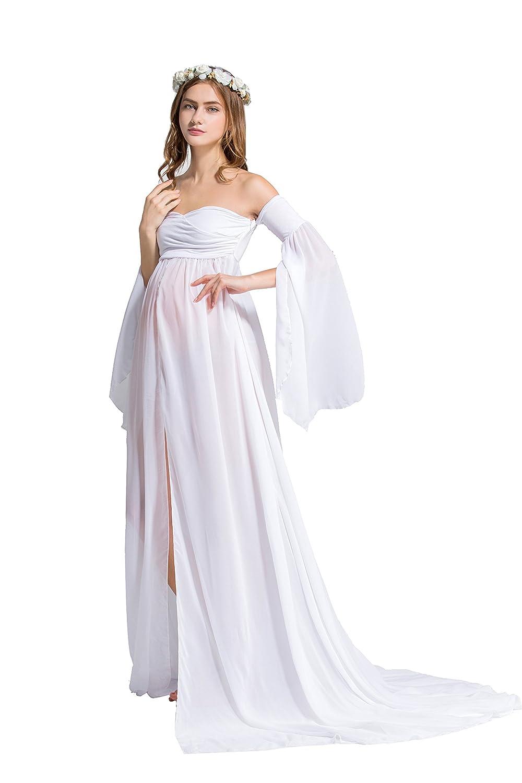 Dance Fairy Mujer Embarazada Largos Vestido, Chifón Dress Fotográficas de Maternidad Apoyos De Fotografía Fiesta Foto Shoot, Tres Colores