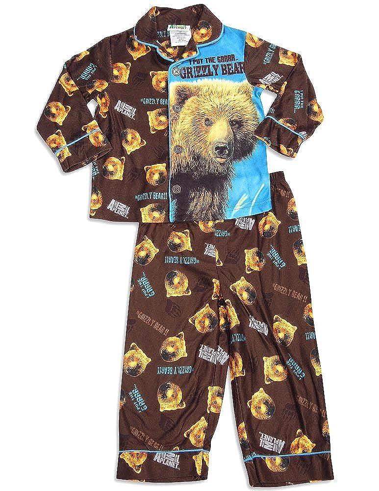 Animal Planet Little Boys Long Sleeve Pajamas Brown 29954-4