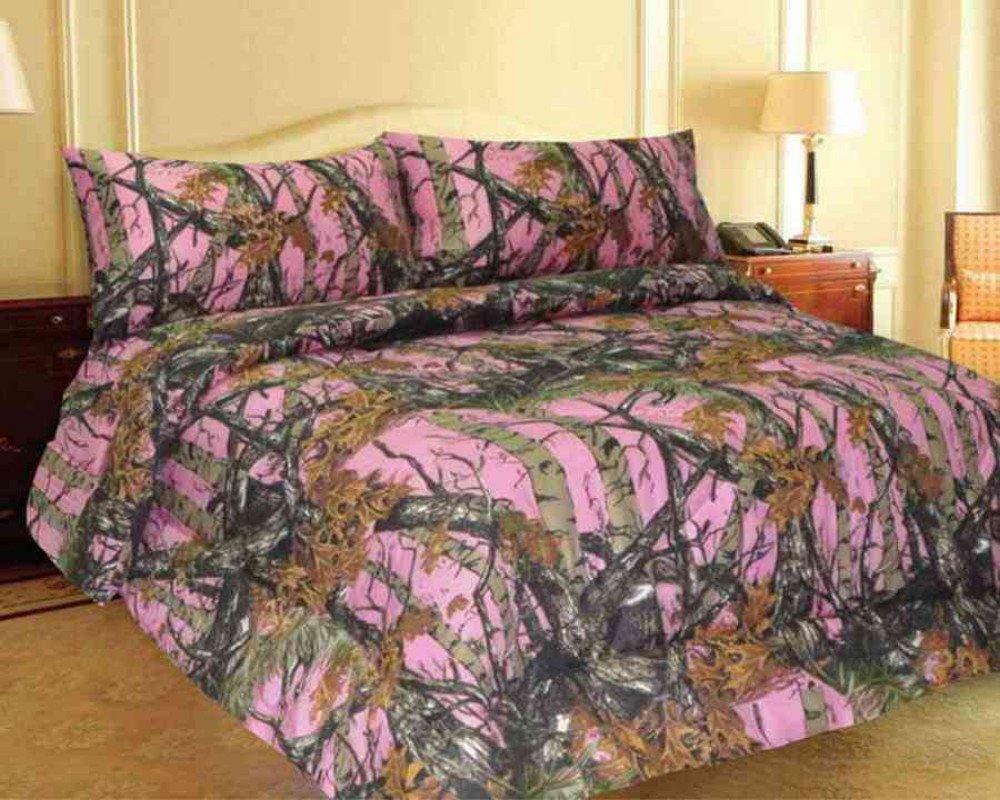 Amazoncom PINK FOREST CAMO MicroFiber Comforter Bed Spread