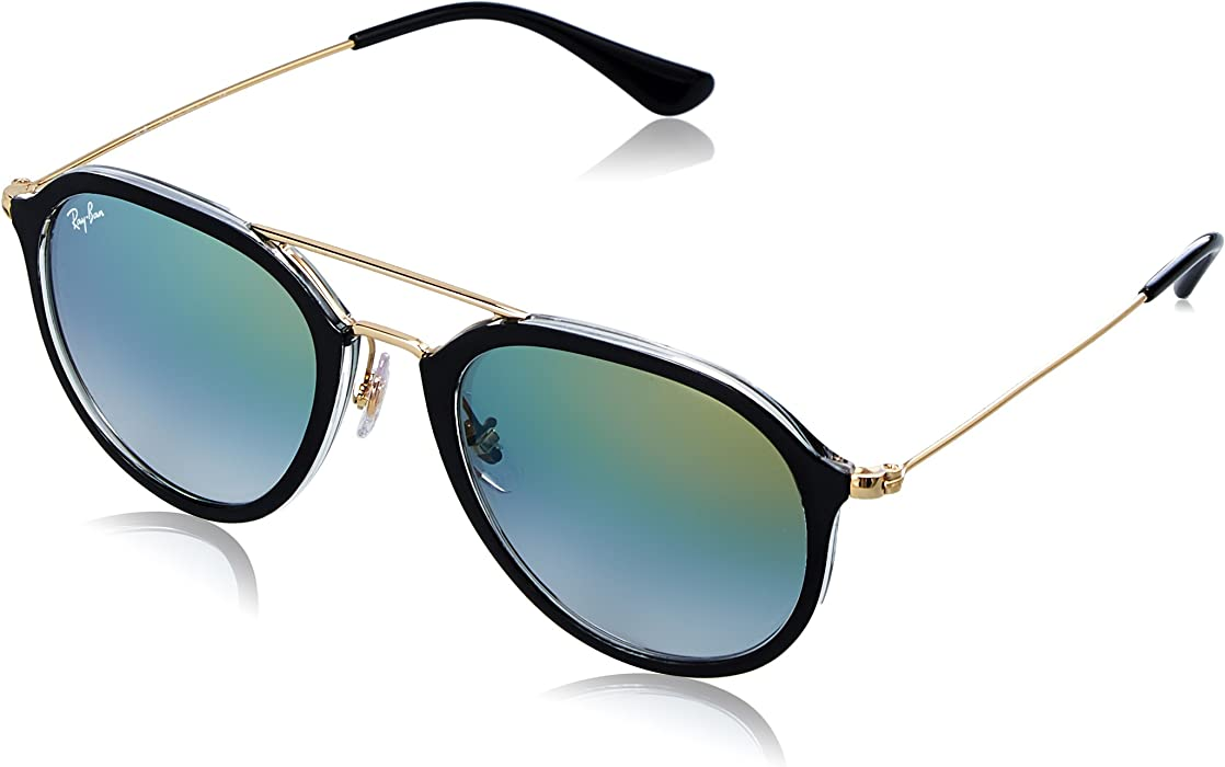 ad680c65517133 Ray-Ban RAYBAN Unisex-Erwachsene 0RB4253 6052Y0 50 Sonnenbrille Top Black  One Transparent/