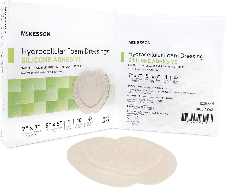 Foam Adherent Silicone W//Border 7X7 10Ea//Bx Manufacturer:/ MCKESSON