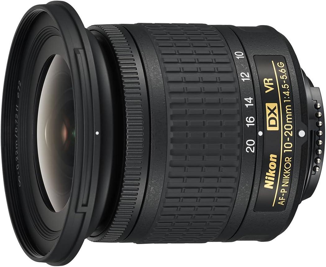 Nikon AF-P DX NIKKOR 10-20mm f/4.5-5.6G VR - Objetivo para cámara, color negro