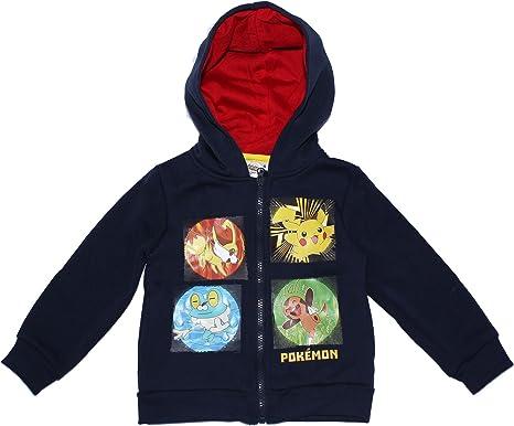 Pokèmon - Sudadera con Capucha - para niño Azul Azul Marino 3-4 Años