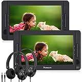 "NAVISKAUTO 10.5"" Portable DVD Player Dual Screen for Car, Headrest Video Player with USB/SD/MMC Card Readers, Last Memory, 5-"