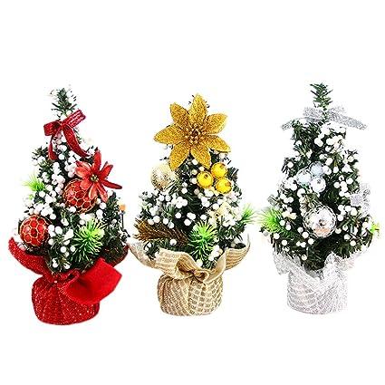 Amazon Com Mini Artificial Christmas Tree Christmas Decoration For