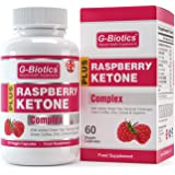 G-Biotics Raspberry Ketones Fresh Weight Loss Diet Pills - NEW MAX Strength Ketone Plus Formula - ON SALE NOW - Highly Rated Weight Loss Supplement With Added Green Tea Extract, Green Coffee Bean Extract, Garcinia Cambodia & Cayenne