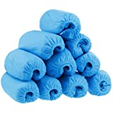 100 Disposable Shoe Cover Overshoes, Rovtop 50 Pairs Thicker Non-woven Fabrics Boot & Shoe Covers, Blue, One Size Fits Most Fits up to Size 10.5