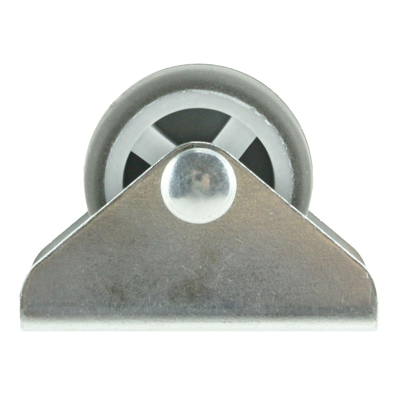 Spares2go Universal Divan Bed Tiroirs Cabinet 32mm, Paquet de 8 Plaque Fixe Castor Roues
