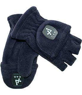 b06ba8dcce75f0 EveryHead Fiebig Mädchenhandschuhe Handschuhe Fleecehandschuhe  Winterhandschuhe Fausthandschuhe fingerlos 2in1 wandelbar für Kinder  (FI-78128